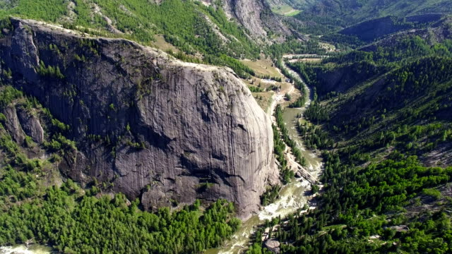 aerial view of mountain in area of koktokay,xinjiang,china. - mountain range stock videos & royalty-free footage