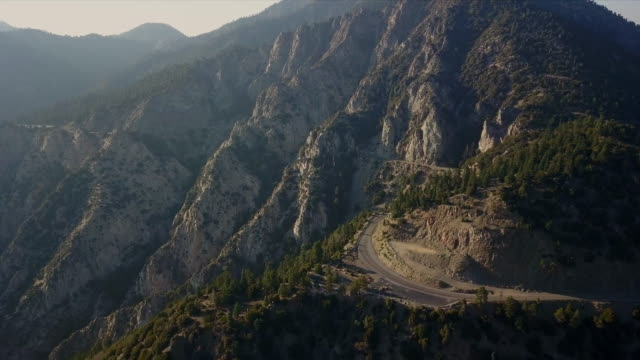 aerial view of mountain road - outdoor pursuit stock videos & royalty-free footage