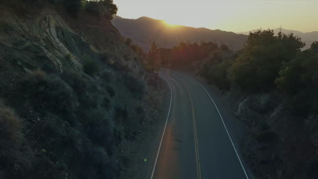 aerial view of mountain road - curve stock videos & royalty-free footage