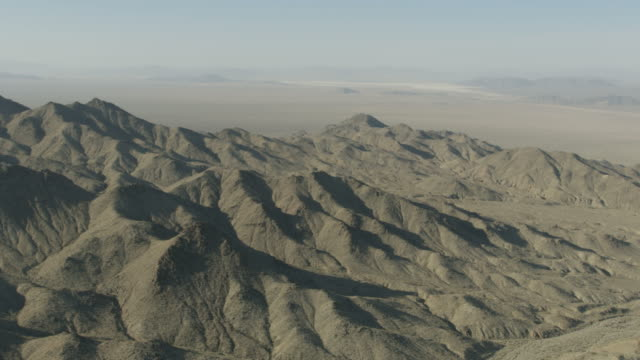 Aerial view of mountains and Mojave Desert Nevada