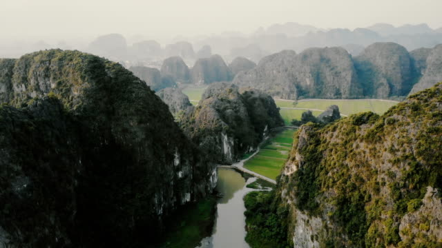 aerial view of mountains in vietnam - vietnam stock videos & royalty-free footage