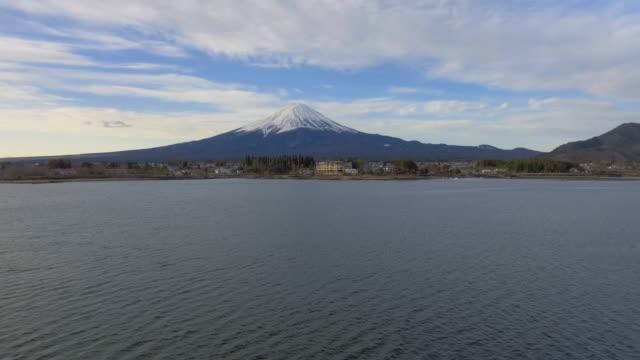 vidéos et rushes de vue aérienne de mt. fuji - préfecture de yamanashi
