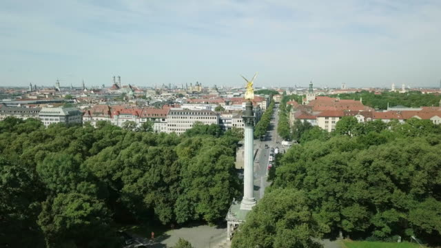 aerial view of munich, germany - munich stock videos & royalty-free footage