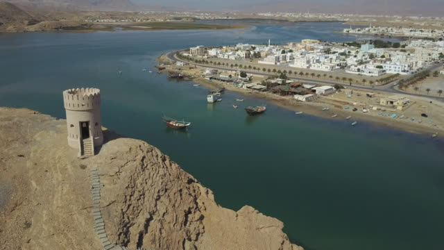 aerial view of muscat , oman - cityscape stock videos & royalty-free footage