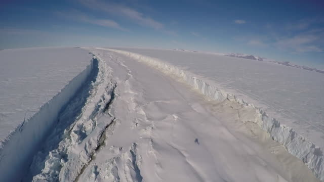 aerial view of nansen fjord in antarctica - nansen fjord stock videos & royalty-free footage
