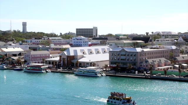 Aerial view of Nassau, Bahamas