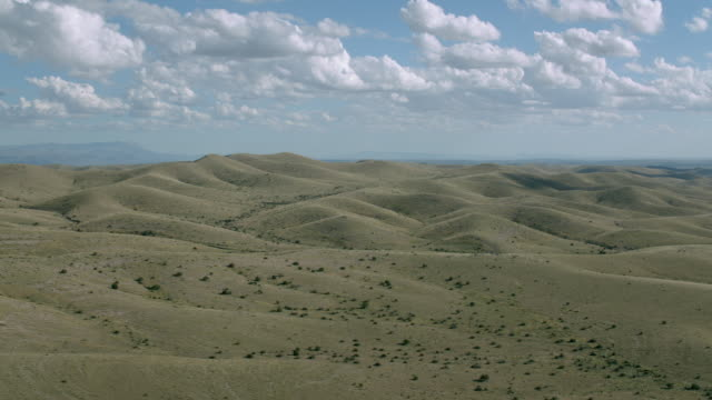 aerial view of nebraska sandhills against cloudy sky, united states of america - nebraska stock videos & royalty-free footage