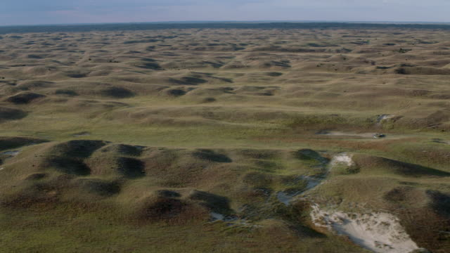 aerial view of nebraska sandhills in nebraska, united states of america - nebraska stock videos & royalty-free footage