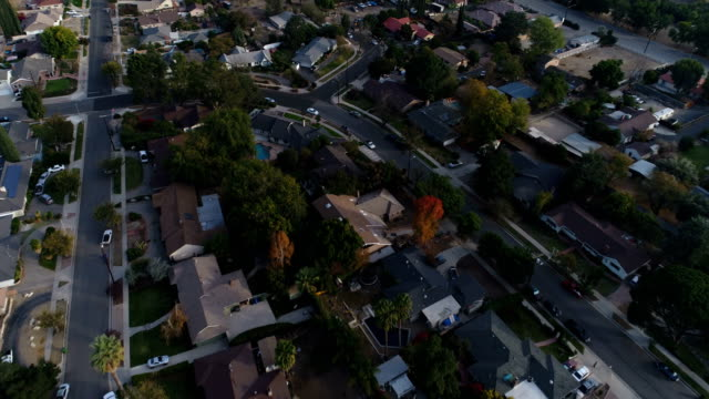 aerial view of neighborhood - driveway stock videos & royalty-free footage