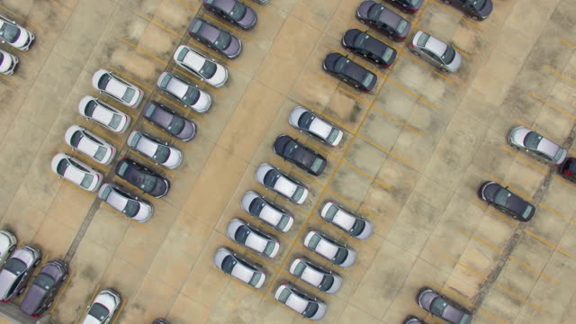 aerial view of new cars for sale - car dealership stock videos and b-roll footage