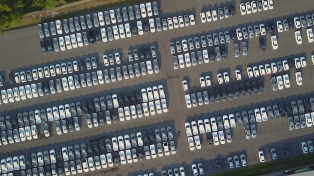 Aerial View of new cars for sale