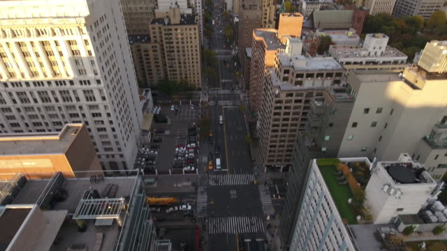 aerial view of new york city. new york, ny usa. - level stock videos and b-roll footage
