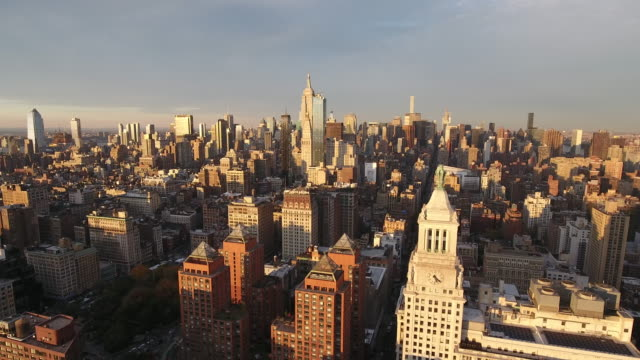 Aerial view of New York City. New York, NY USA.
