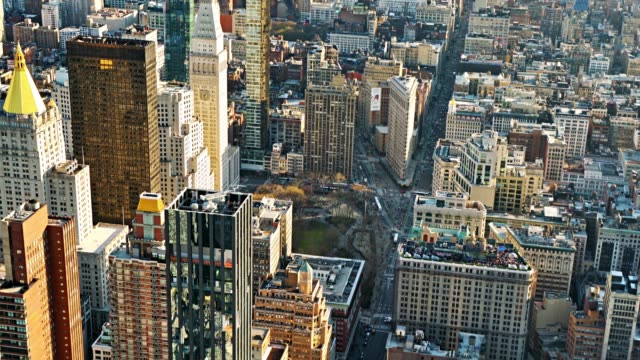 aerial view of new york street. - ward stock videos & royalty-free footage