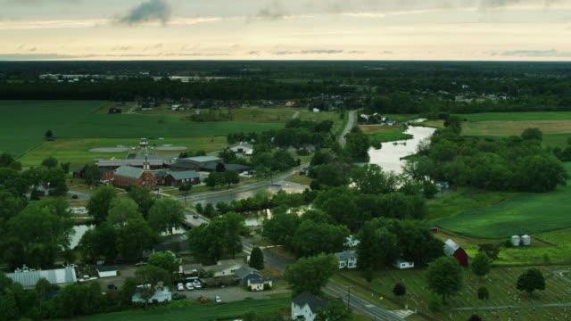 aerial view of newport, mi - michigan stock videos & royalty-free footage