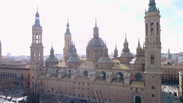Aerial view of Nuestra Senora del Pilar Basilica