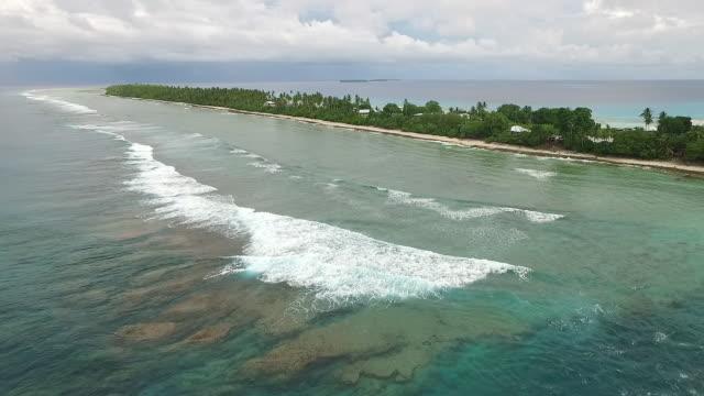 Aerial view of Nukunonu, Tokelau