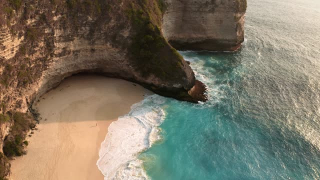 aerial view of nusa penida - beauty in nature stock videos & royalty-free footage