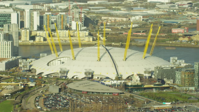 Aerial view of O2 Arena London England