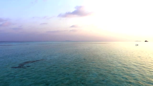 aerial view of ocean, maldives - indian ocean stock videos & royalty-free footage