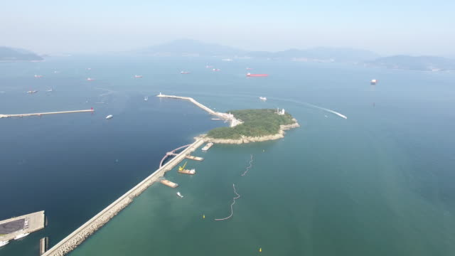 Aerial view of Odong-do Island