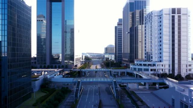 aerial view of office building - ドローン撮影点の映像素材/bロール