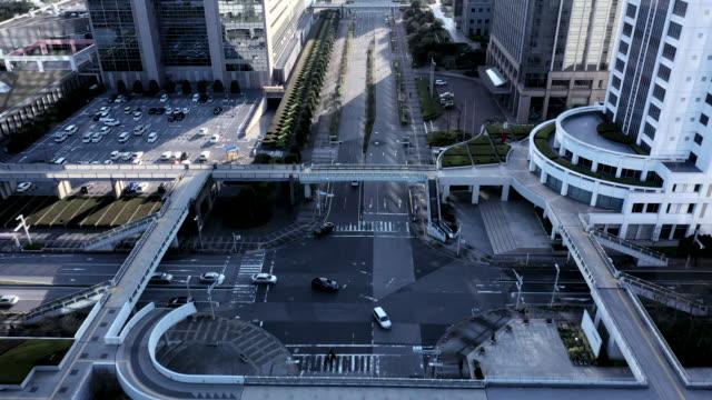 aerial view of office building - ミディアムショット点の映像素材/bロール
