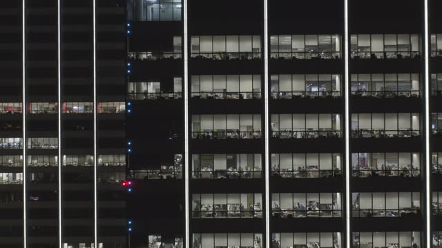 aerial view of office building - liyao xie stock videos & royalty-free footage