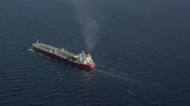 aerial view of oil products tanker, RED R3D 4k