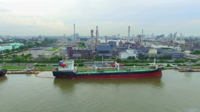 Luftbild von Öl-Raffinerie