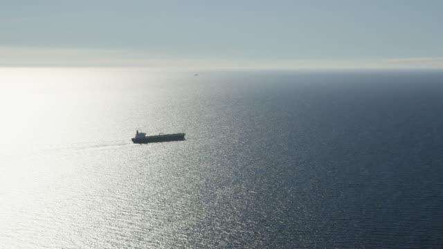 vídeos y material grabado en eventos de stock de aerial view of oil tanker, red r3d 4k - vendedor