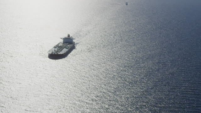 aerial view of oil tanker (VLCC), RED R3D 4k