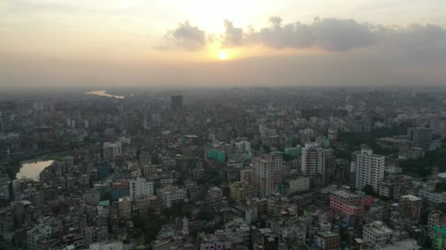 aerial view of old dhaka city in bangladesh - dhaka stock videos & royalty-free footage