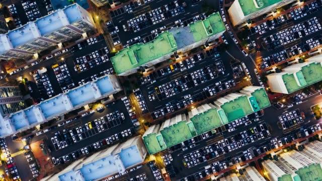 vidéos et rushes de aerial view of old residential district - plein