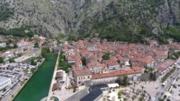 Aerial view of Old Town Kotor