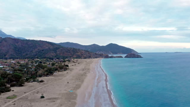 Aerial view of Olympos Beach