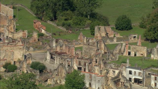 WS Aerial view of Oradur-sur-Glane, Oradur, Aquitaine, France