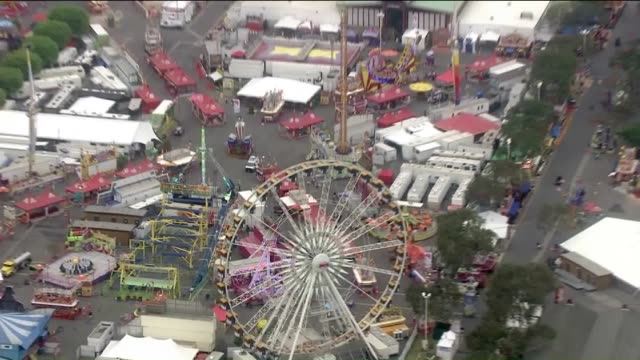 aerial view of orange county fair located in costa mesa. - costa mesa stock videos & royalty-free footage