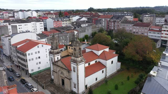 aerial view of ordes on september 10, 2020 in ordes, coruña. ordes is a municipality of northwestern spain in the province of a coruña, in the... - puebloan culture stock videos & royalty-free footage
