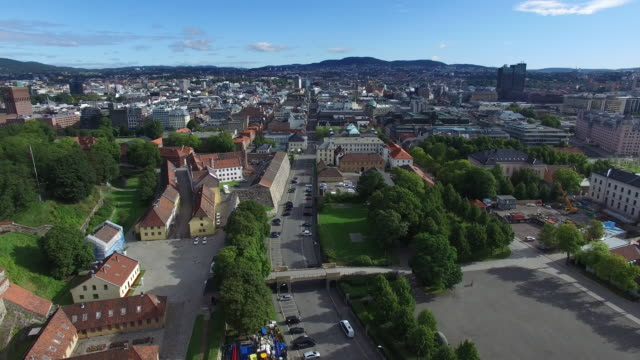 aerial view of oslo downtown in early summer - politics stock videos & royalty-free footage