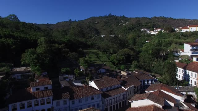 aerial view of ouro preto in minas gerais, brazil - preto stock videos & royalty-free footage