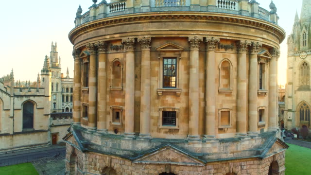 aerial view of oxford university, england uk. - oxford england video stock e b–roll