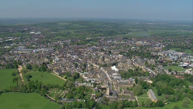 aerial view of oxford - horizon over land stock videos & royalty-free footage