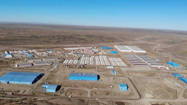 aerial view of oyu tolgoi gold and copper mine in khanbogd mongolia on saturday september 22 2018 - copper mine stock videos and b-roll footage
