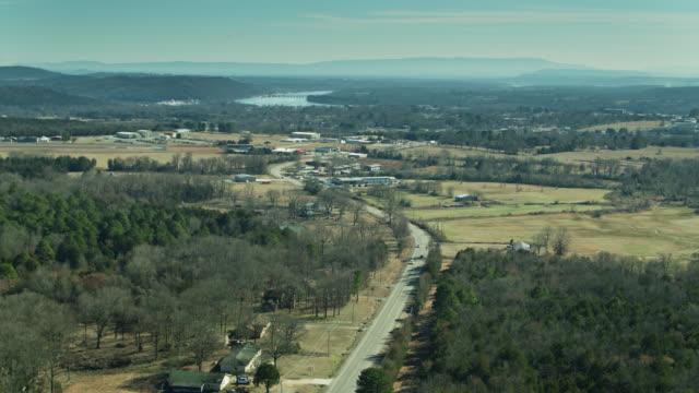 aerial view of ozark, arkansas - アーカンソー州点の映像素材/bロール
