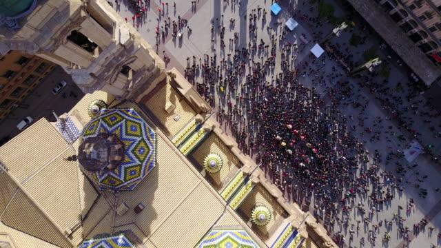 Aerial view of Palacio de la Aljaferia