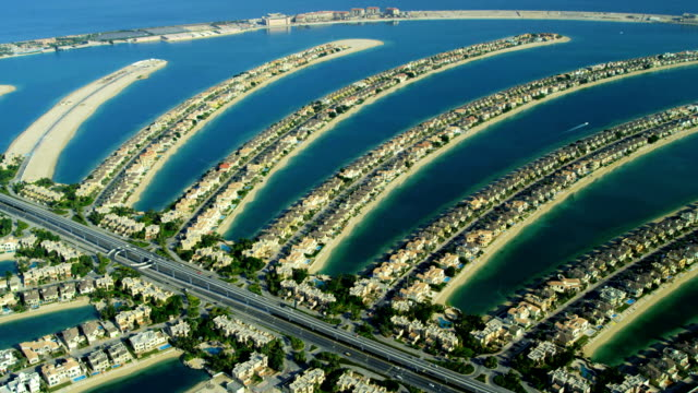 Aerial view of Palm Jumeirah Dubai