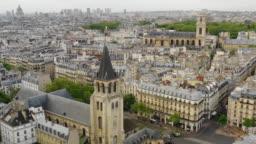 Aerial view of Paris and Saint-Germain-des-Prés church