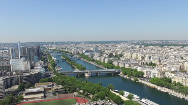aerial view of paris from eiffel tower - île de france stock-videos und b-roll-filmmaterial