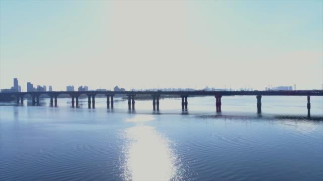 09/28/2017. aerial view of paton bridge, kiev. - 1953 stock videos & royalty-free footage
